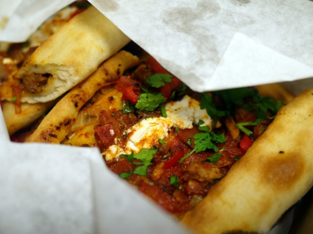 lamb and feta pide from pide oven