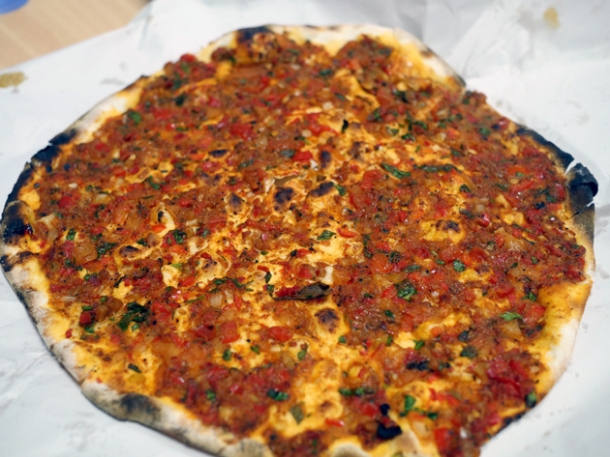 lamb lahamacun from pide oven charlotte street fitzrovia london