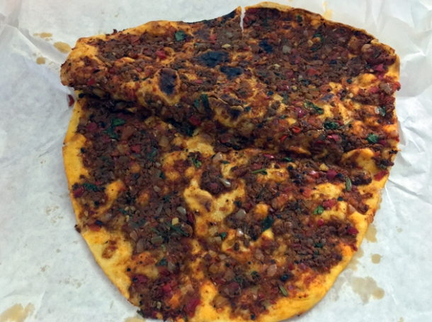 lamb lahmacun from pide oven