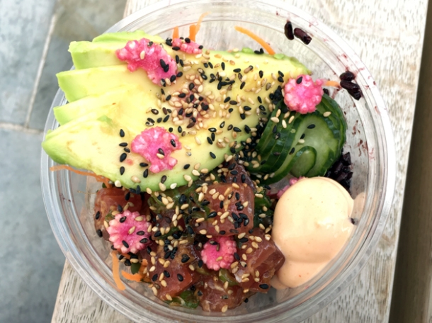 tuna poke from eat poke street food