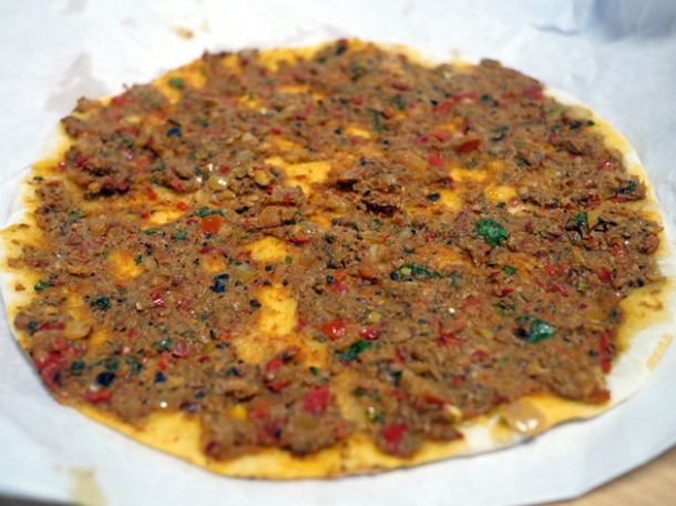 turkey lahmacun from pide oven