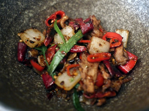 duck offal with sichuan pepper at a wong