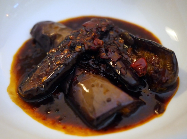 sichuanese aubergine at a wong
