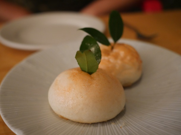 steamed duck yolk custard bun at a wong