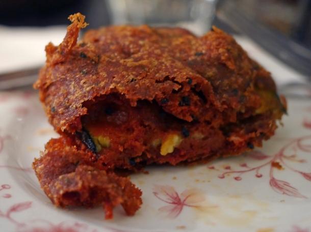 battered deep fried aubergine at calcutta street