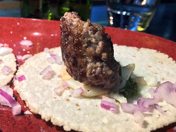 cheeseburger tacos at temper soho