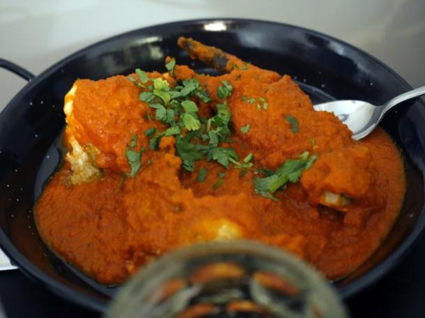 crab curry at calcutta street