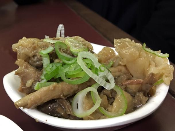 beef tendons at hakata-nagahama ramen miyoshi
