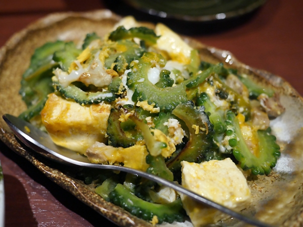 bitter gourd vegetables at little okinawa