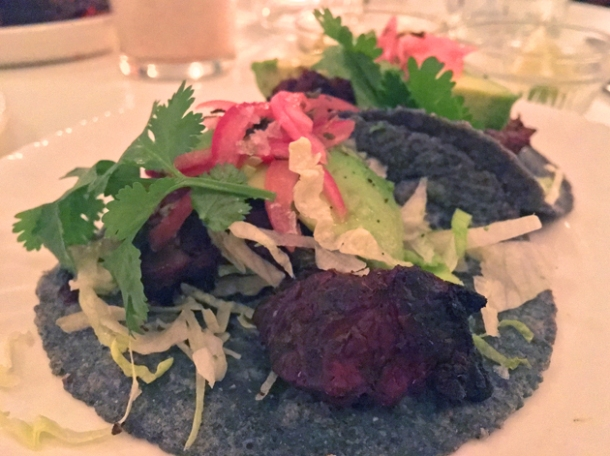 carne asada tacos at corazon