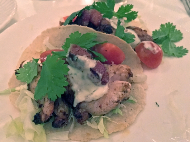 chicken blt tacos at corazon
