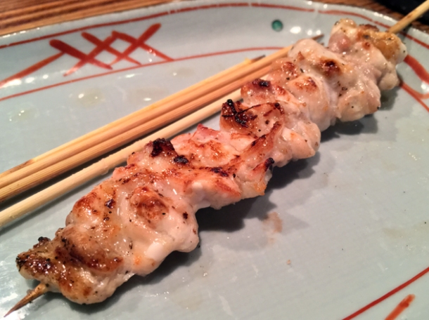 chicken leg meat yakitori at birdland