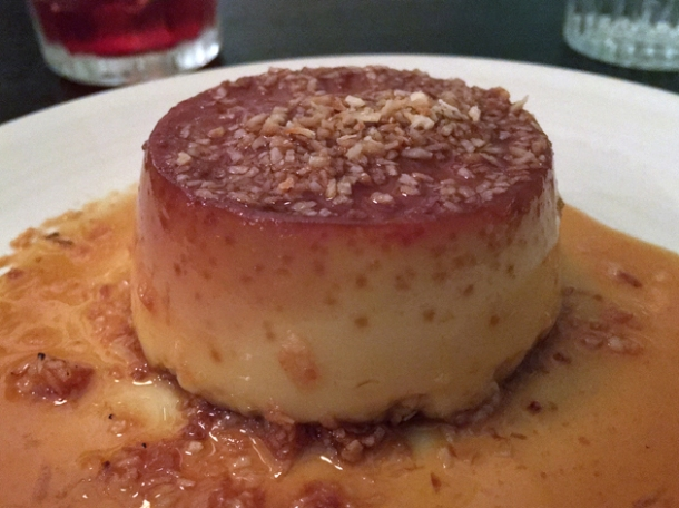 coconut flan at corazon