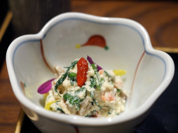 goji berry tofu at hiraso