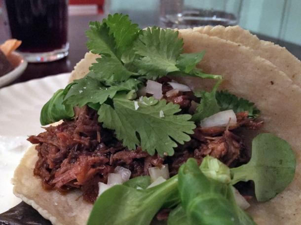 lamb tacos at corazon