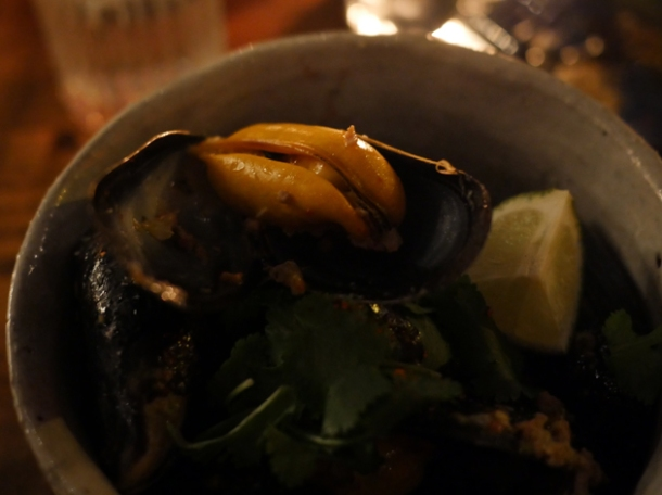 mussels at breddos tacos