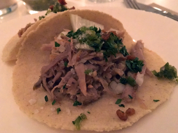 pork belly tacos at corazon