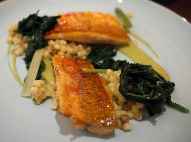 red mullet with fregola at luca