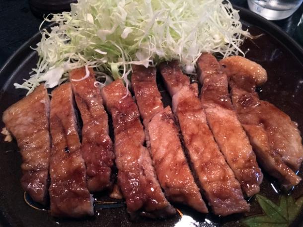 sauteed pork loin at tonkatsu santa