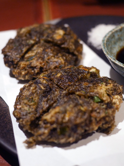 seaweed tempura patties at little okinawa