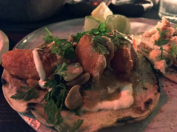sweet potato tacos at breddos tacos clerkenwell