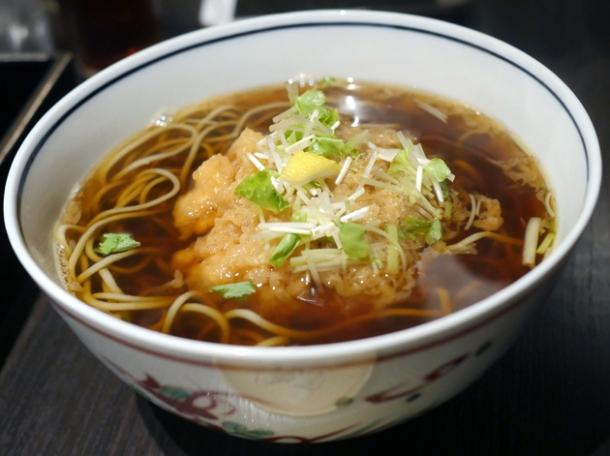 tempura hot soba at kanda yabu soba