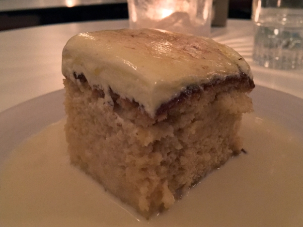 tres leches cake at corazon
