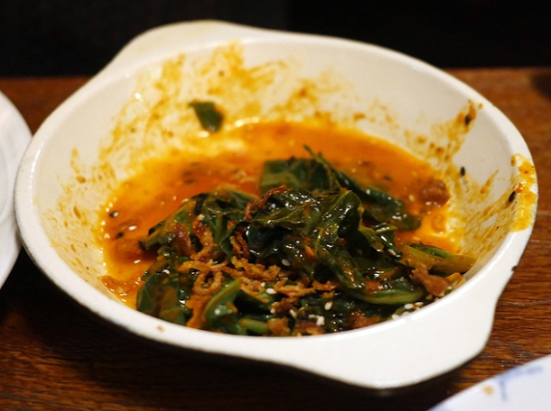 burnt chilli greens at little smoke