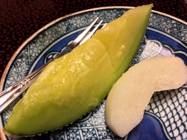 canteloupe and apple at hotel nakanoshima wakayama