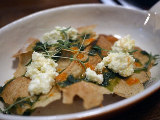 feta flatbread at little smoke