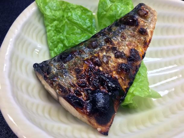grilled breakfast fish at ryokan adumaya