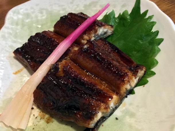 grilled eel at kanteki