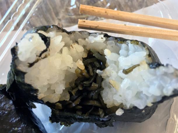 kelp onigiri from koguchi shizen-no-ie
