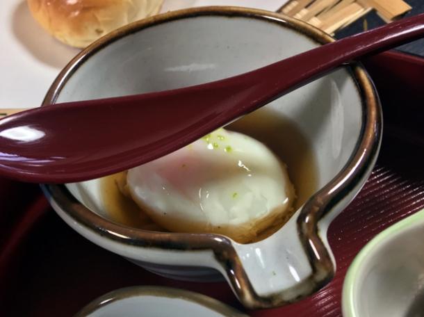 onsen egg at minshuku tsugizakura