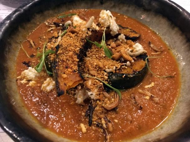 pumpkin curry at kricket soho