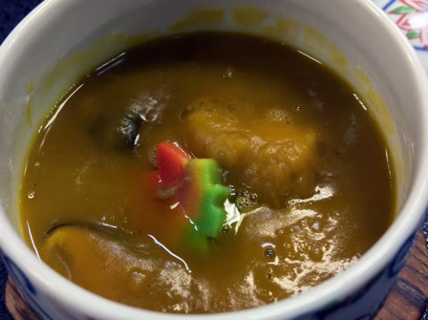 pumpkin soup at ryokan adumaya