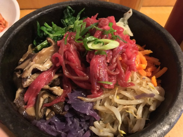raw steak bibimbap at bibimbap soho
