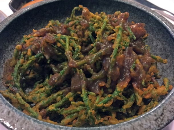 samphire pakoras at kricket soho