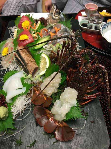 sashimi at hotel nakanoshima wakayama