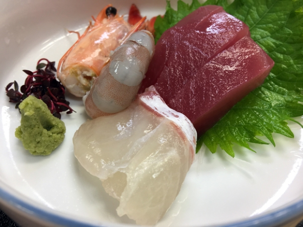 sashimi at ryokan adumaya