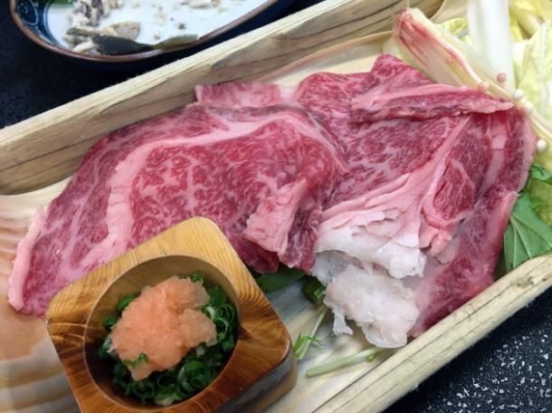 shabu shabu beef at ryokan adumaya