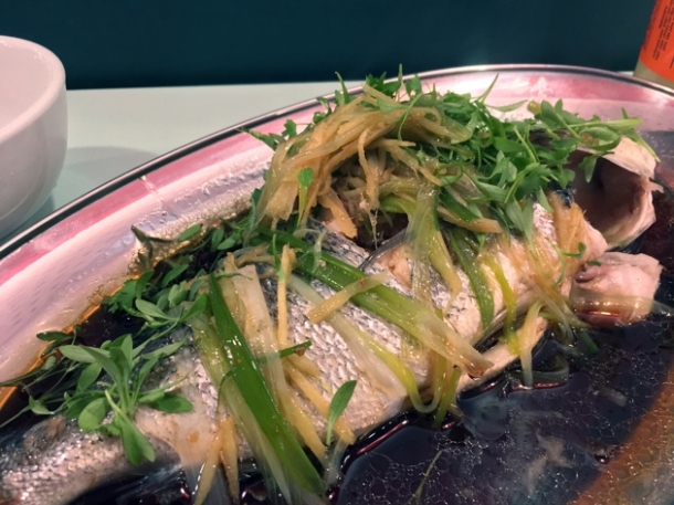 steamed sea bream at duck duck goose brixton