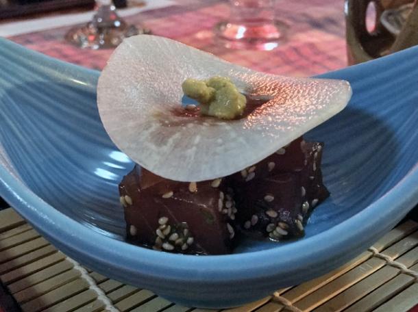tuna sashimi at minshuku tsugizakura