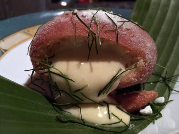 apple custard doughnut at farang highbury