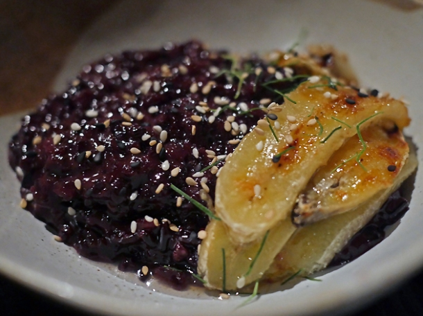 banana and jackfruit sticky rice at farang
