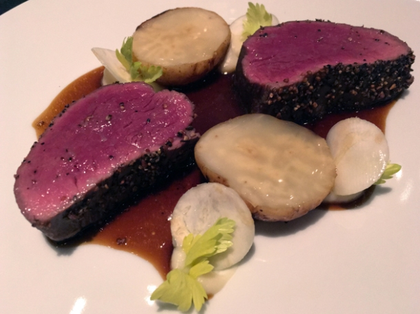 beef and celeriac at le dame de pic london