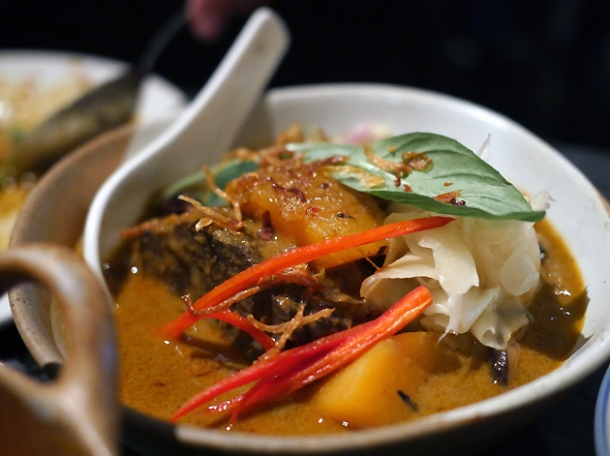beef cheek curry at farang