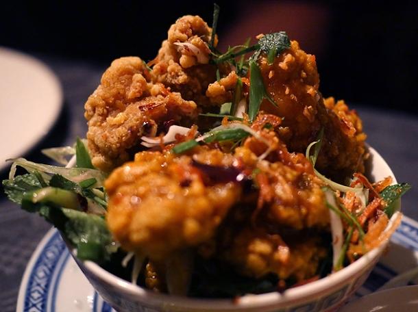 fried chicken at farang