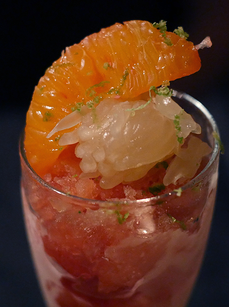 rapefruit and blood orange granita at farang