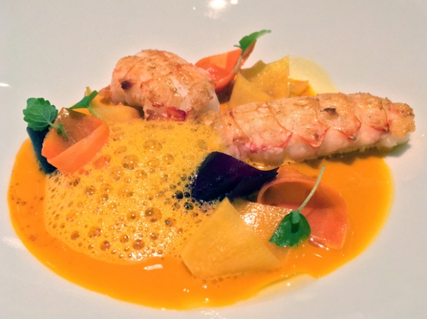 langoustines at le dame de pic london